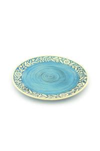 """Голубая тарелка """"Веночек"""""""