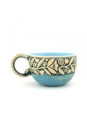 """Блакитна чашка """"Віночок"""" (300 мл)"""