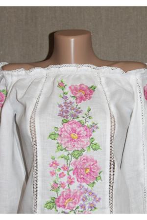 """Вишиванка """"Рожева мрія"""" з вишивкою бузкового кольору"""