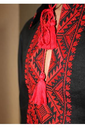"""Вышиванка """"Козак"""" с вышивкой красного цвета"""