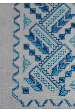 """Вишиванка для хлопчика """"Любомир"""" з вишивкою блакитного кольору"""