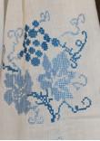 """Вишиванка """"Виноградна лоза"""" з синьою вишивкою"""