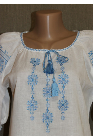 """Вишиванка """"Росава"""" з блакитною вишивкою"""
