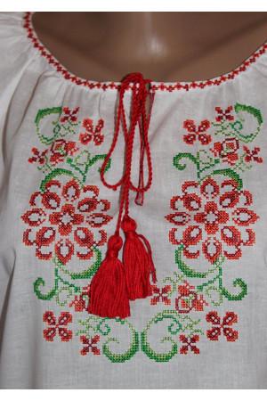 """Вышиванка """"Купава"""" с вышивкой красного цвета"""