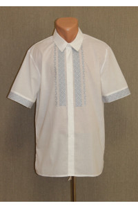 """Підліткова сорочка """"Відродження"""" з вишивкою сірого кольору КР"""