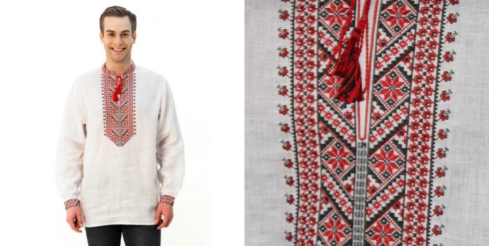 c093d018c6b098 Саме така сорочка спадає на згадку, коли кажуть «традиційна українська  вишиванка». Просторий крій, стриманий орнамент, вишитий хрестиком у  червоно-чорній ...