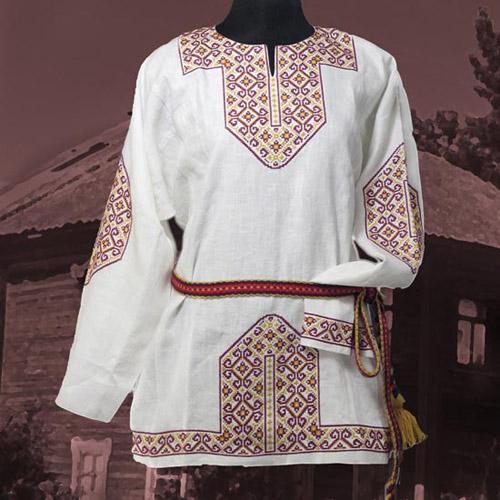 Вышивки на одежде у славян