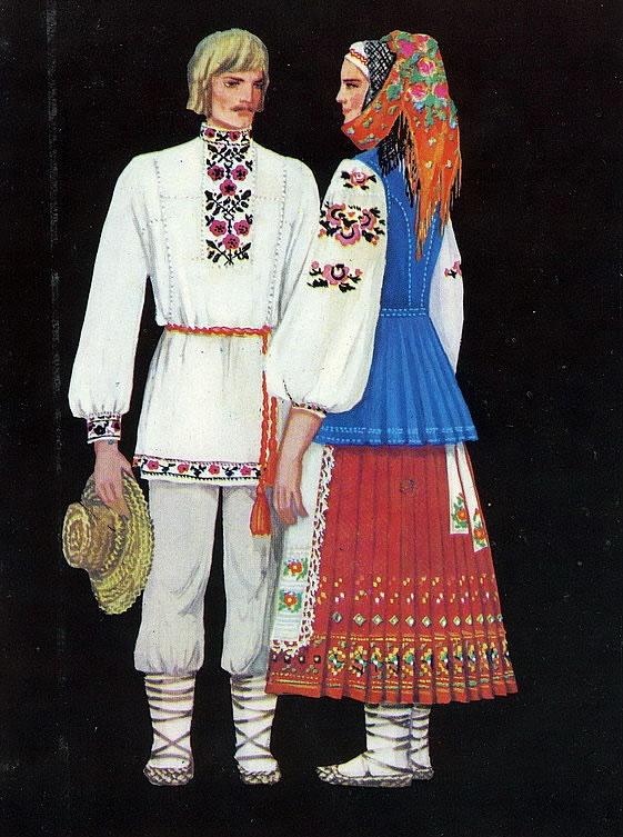 d48569741ee9ac Нарядні жіночі вишиванки мали широкі рукави, зібрані знизу в тонку манжету.  Вишивці цього регіону властива червоно-чорна колірна гама.