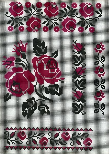 Украинские розы вышивка