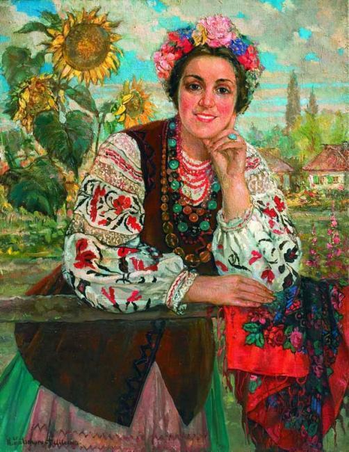 Декоративный элемент дівчинка україночка