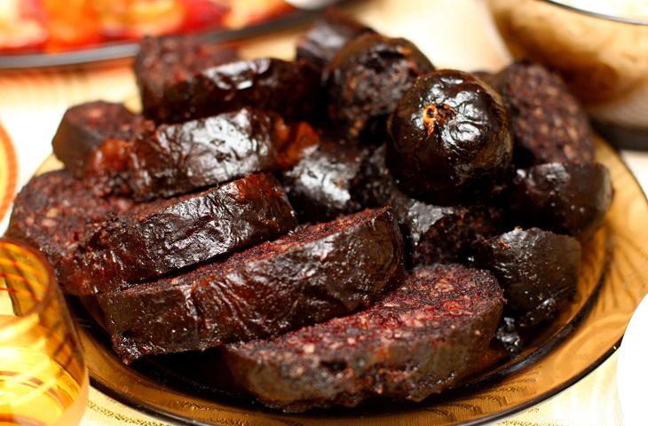 Кровяная колбаса с рисом в домашних условиях